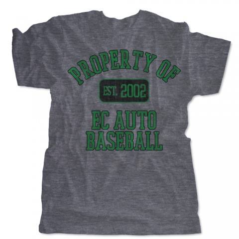 Property of EC Auto Distressed Logo Tee | Size for Whole Family | Multiple Colors
