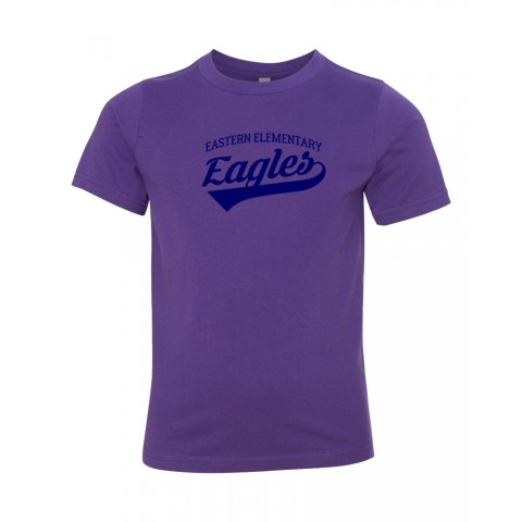 Eastern Elementary Script Cotton Tee | Purple
