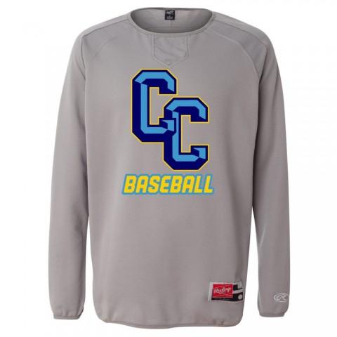 C&C Stoneworks Baseball Rawlings Long Sleeve Flatback Mesh Fleece Pullover
