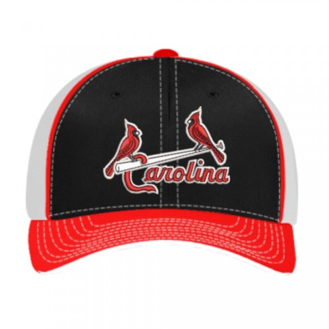 Carolina Cardinals Baseball Hat | Black/Red/White Hat