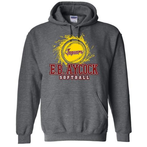 EB Aycock Softball Cotton Hooded Sweatshirt | Softball Logo