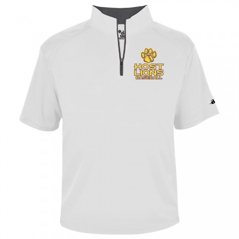 Host Lions Short-Sleeve 1/4 Zip Pullover | White