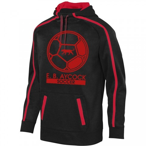 EB Aycock Soccer Stoked Tonal Heather Performance Hoodie | Soccer Ball Logo | Youth & Adult Sizes