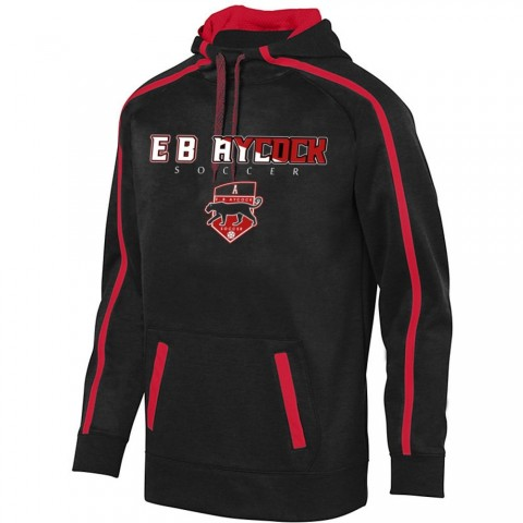 EB Aycock Soccer Stoked Tonal Heather Performance Hoodie | Word Logo | Youth & Adult Sizes