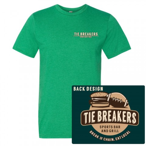Tie Breakers Distressed Original Logo Unisex Light Weight Heathered Tee
