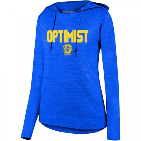 Optimist Ladies Tonal Heather Hooded Performance Tee