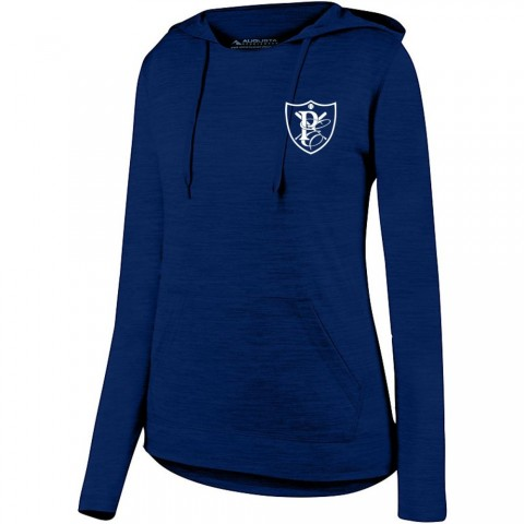PE Ladies Tonal Heather Hooded Performance Tee
