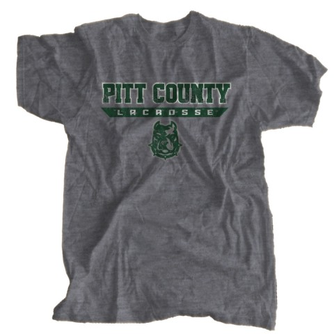 Vintage, Distressed Pitt County Lacrosse T-Shirt | Bulldog Word Logo | Sizes for Whole Family