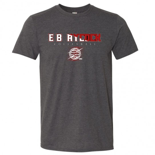 E. B. Aycock Volleyball Cotton Tee   Multiple Colors