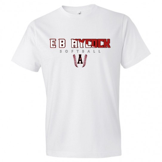 E. B. Aycock Softball Cotton Tee | Softball Word Logo | Multiple Colors