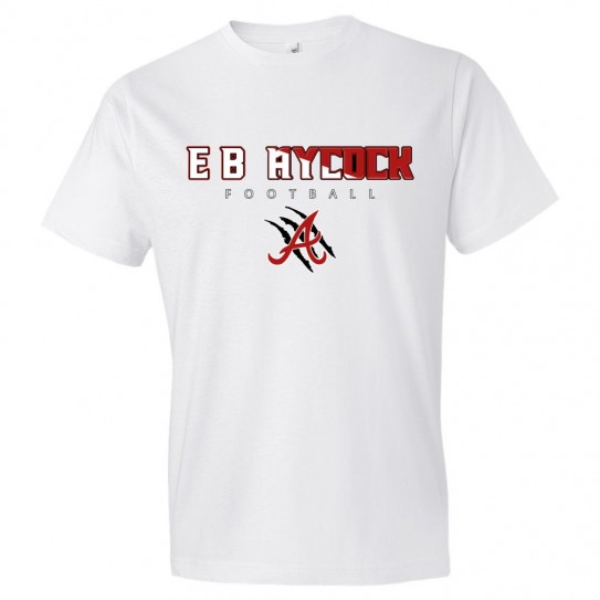 E. B. Aycock Football Cotton Tee | Word Logo | Multiple Colors