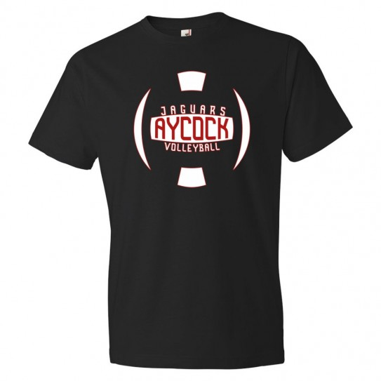 E. B. Aycock Cotton Tee | Volleyball Ball Logo | Multiple Colors
