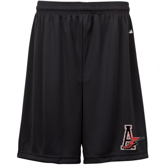 E B Aycock Cross Country Badger Black Solid Shorts