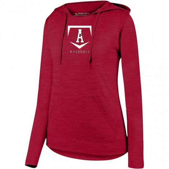 E B Aycock Baseball Ladies Tonal Heather Hooded Performance Tee
