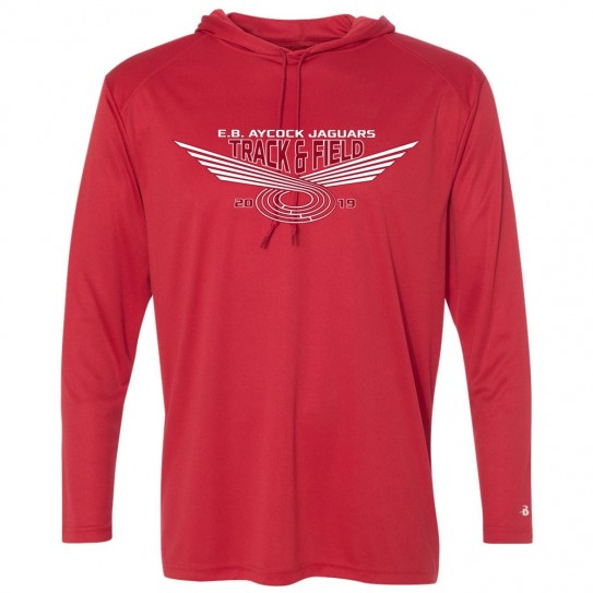 EB Aycock Track & Field Hooded Performance T-Shirt | Multiple Styles
