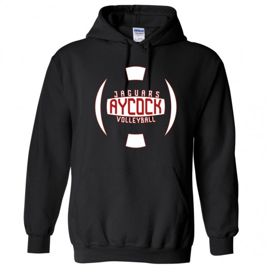 EB Aycock Cotton Hooded Sweatshirt | Volleyball Ball Logo | Multiple Colors
