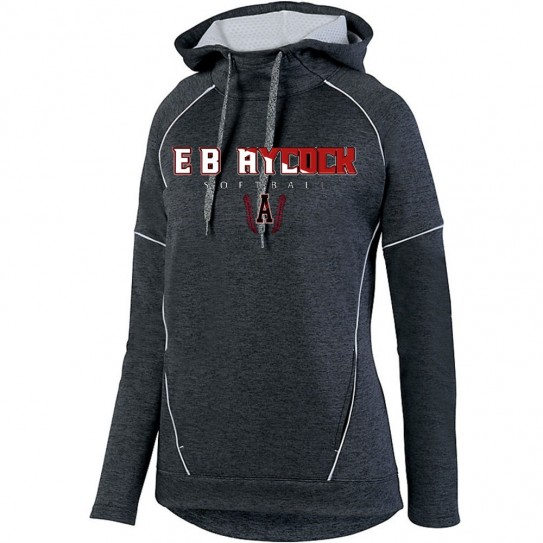 EB Aycock Softball Stoked Ladies Tonal Heather Performance Hoodie | Softball Word Logo