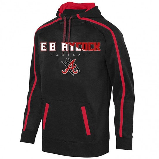 EB Aycock Football Stoked Tonal Heather Performance Hoodie | Word Logo | Youth & Adult Sizes